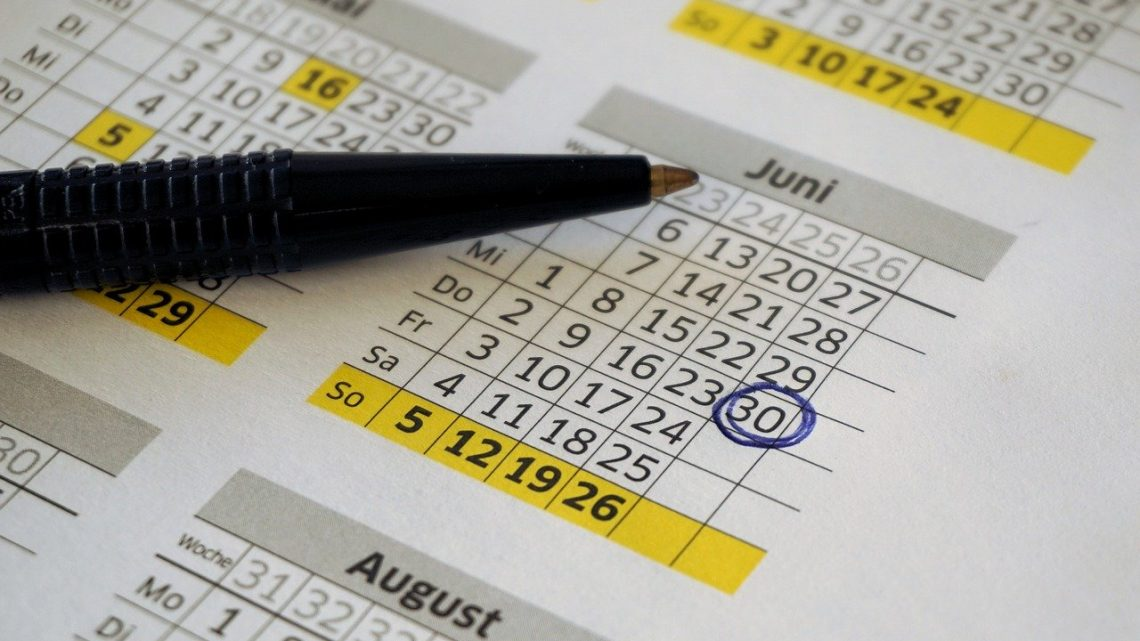 Calendrier 2020 online